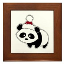 Little Christmas Panda Framed Tile