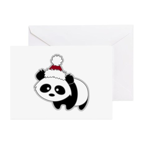 Little Christmas Panda Greeting Cards (Package of