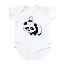 Little Christmas Panda Infant Bodysuit