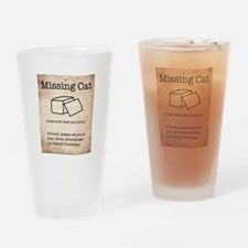 Schrödinger's Missing Cat Drinking Glass