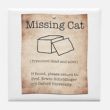 Schrödinger's Missing Cat Tile Coaster