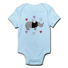 Rhino Cupid with Hearts Body Suit
