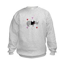 Rhino Cupid with Hearts Sweatshirt