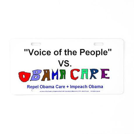 Obama Care Vs VOP Aluminum License Plate