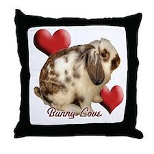 Rabbit Love Throw Pillow