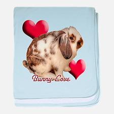 Rabbit Love baby blanket