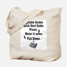 Vegetable Gardeners Quick Start Guide Tote Bag