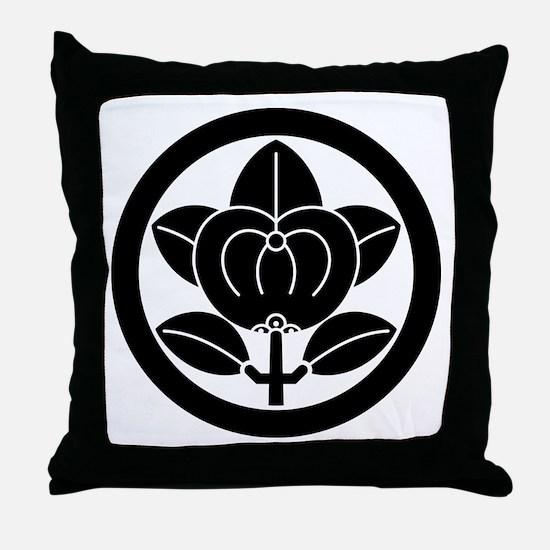 Hikone mandarin orange Throw Pillow
