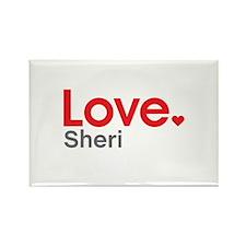 Love Sheri Rectangle Magnet