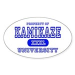 Kamikaze University Oval Sticker