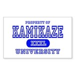 Kamikaze University Rectangle Sticker