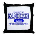 Kamikaze University Throw Pillow