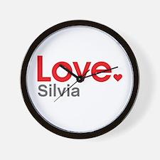 Love Silvia Wall Clock