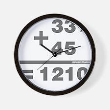 DJ Maths Wall Clock