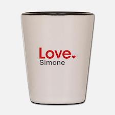 Love Simone Shot Glass