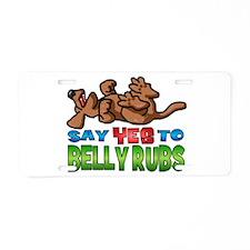 Belly Rub Aluminum License Plate