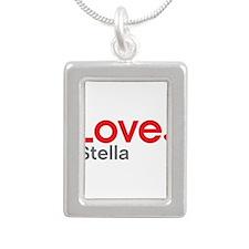 Love Stella Silver Portrait Necklace