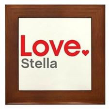 Love Stella Framed Tile