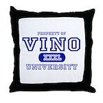Vino University Throw Pillow