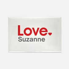 Love Suzanne Rectangle Magnet