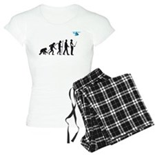 evolution of man with model helicopter Pyjamas