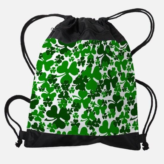 Shamrocks Drawstring Bag