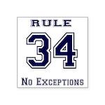 Rule 34 Collegiate Shirt - No exceptions Sticker
