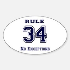 Rule 34 Collegiate Shirt - No exceptions Decal