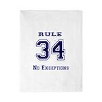 Rule 34 Collegiate Shirt - No exceptions Twin Duve
