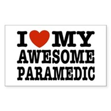 I Love My Awesome Paramedic Decal