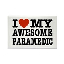 I Love My Awesome Paramedic Rectangle Magnet