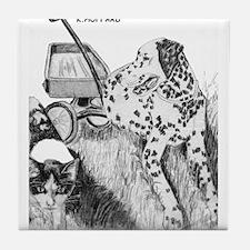 Dalmation and Kitten Tile Coaster