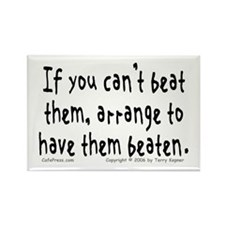 Beat Them... Rectangle Magnet (100 pack)