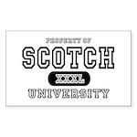 Scotch University Rectangle Sticker
