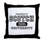 Scotch University Throw Pillow