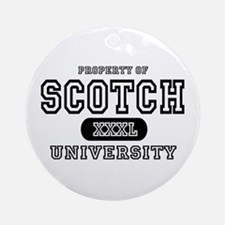 Scotch University Ornament (Round)