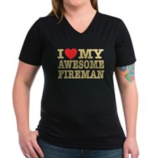 I Love My Awesome Fireman Shirt
