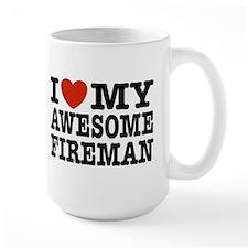 I Love My Awesome Fireman Mug