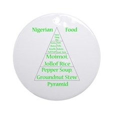 Nigerian Food Pyramid Round Ornament