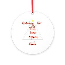 Christmas Food Pyramid Ornament (Round)
