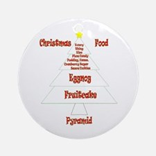 Christmas Food Pyramid Ornament (Round)