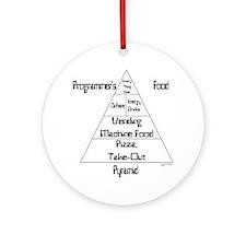 Programmer's Food Pyramid Ornament (Round)