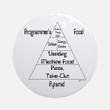 Programmer's Food Pyramid Ornament (Round)