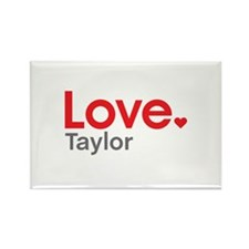 Love Taylor Rectangle Magnet