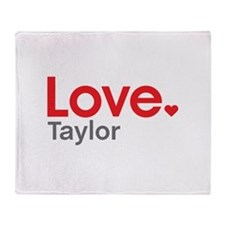 Love Taylor Throw Blanket