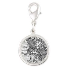 Flowing Silver - Silver Round Charm