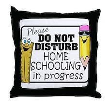 Homeschooling - Do Not Disturb Throw Pillow