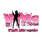 PMS You've Been Warned 35x21 Wall Decal
