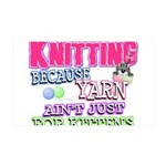 Knitting Kitten 35x21 Wall Decal