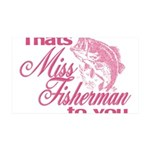 Miss Fisherman 35x21 Wall Decal